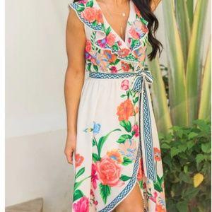 Vibrant Kind Of Love Ivory Floral Maxi Dress